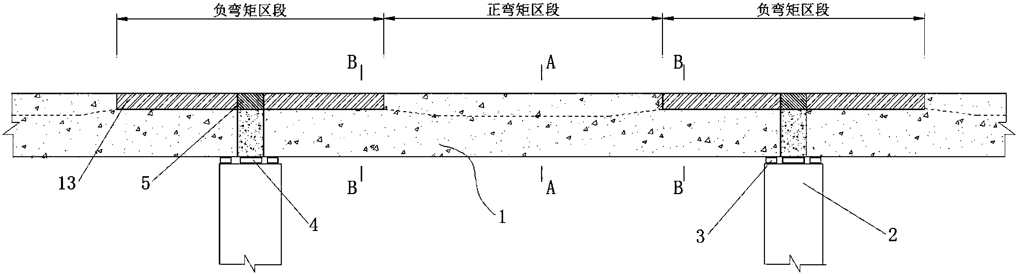 cn108252222a_鋼—混凝土組合結構式先簡支后連續梁橋方法在審圖片