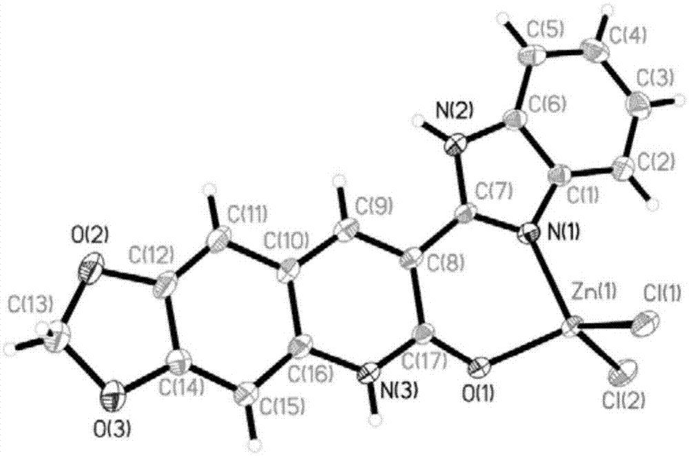 3-苯并咪唑-6,7-胡椒环-2(1h)-喹啉酮-锌配合物及其制备方法和应用