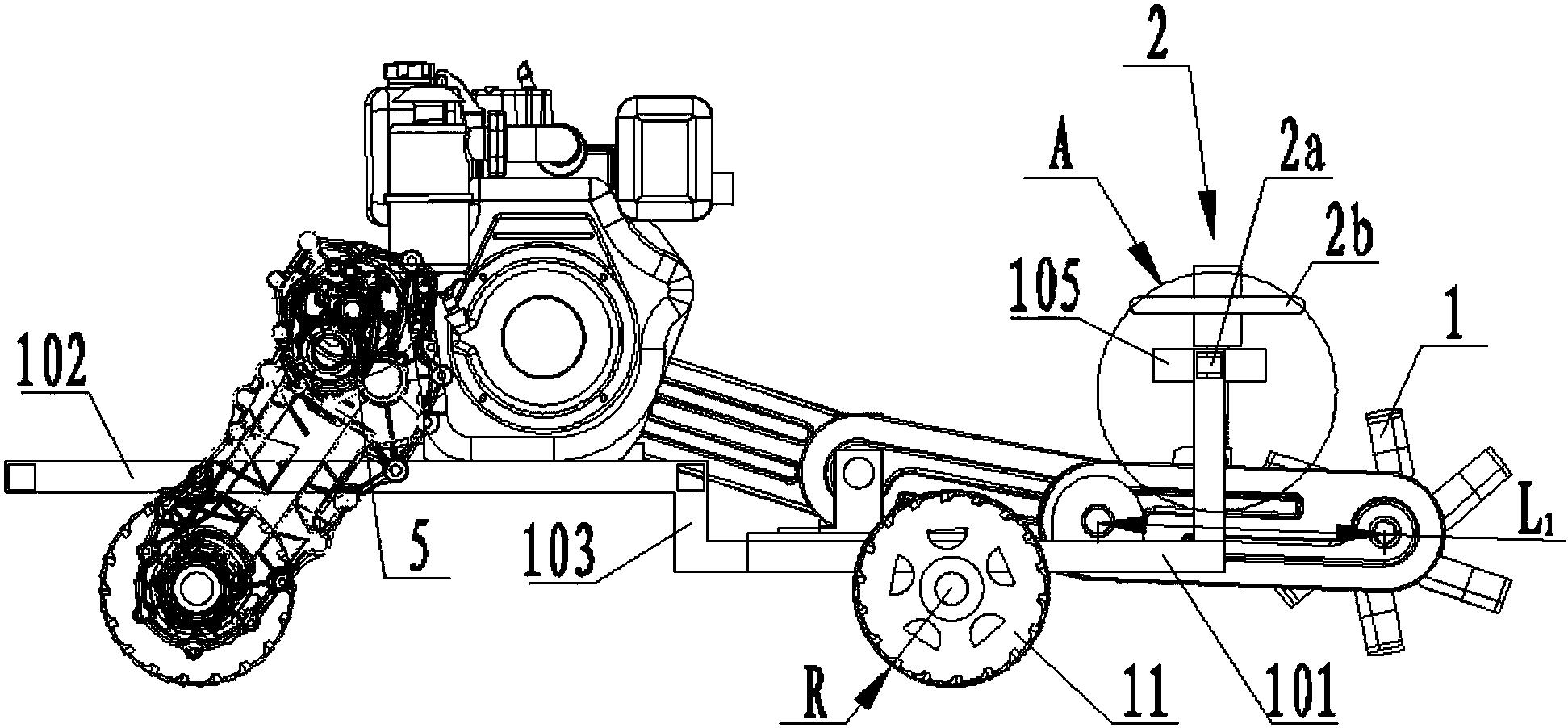 小型农机旋转工作部件田间测试装置