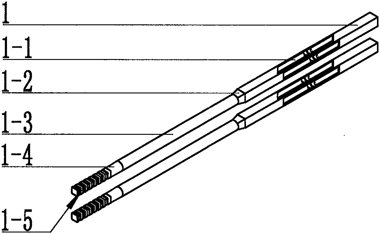 一种能夹圆球圆柱形食物不滑落的筷子