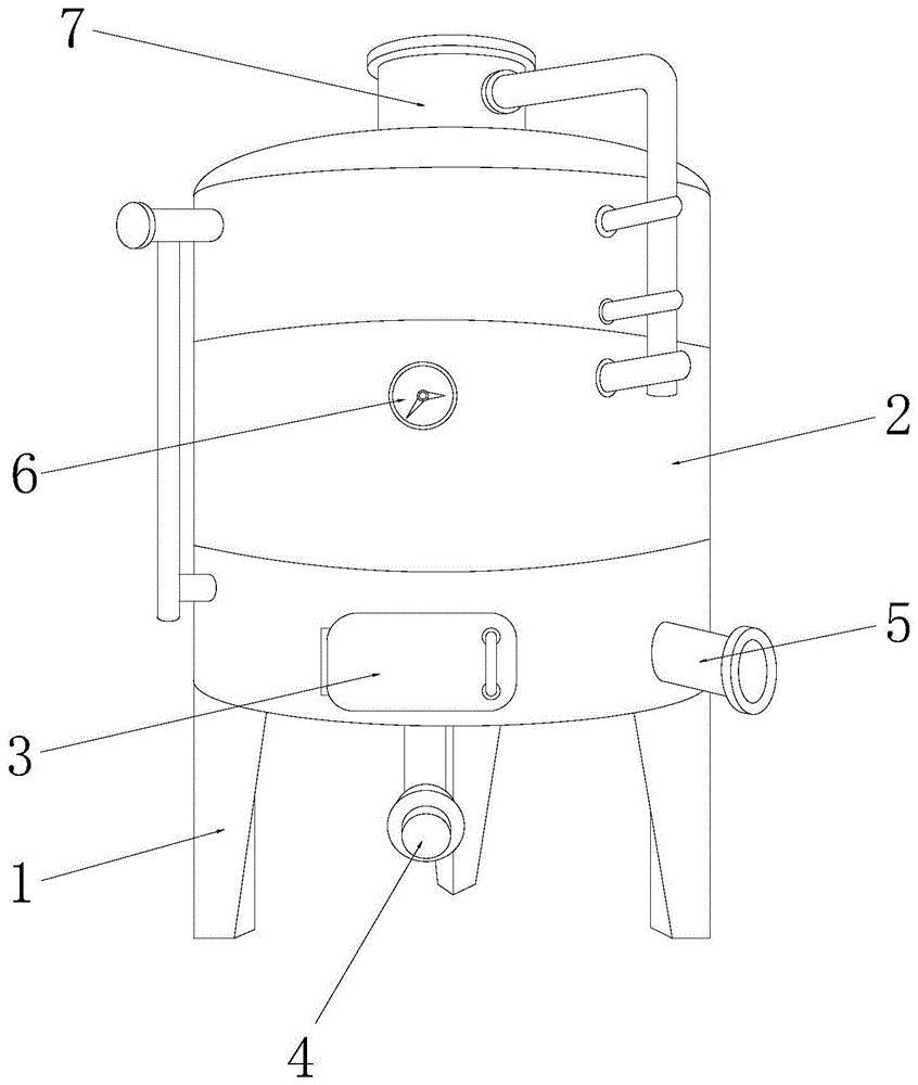 一种防因灌溉导致出现冲击槽的米酒生产用发酵设备