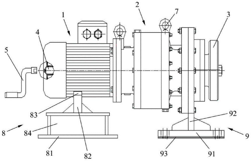 一种风力发电机组盘车装置