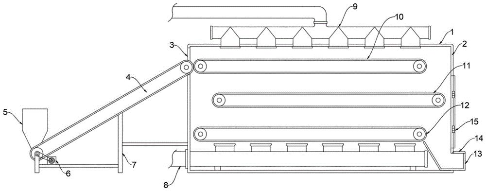一种网夹式定型烘干机