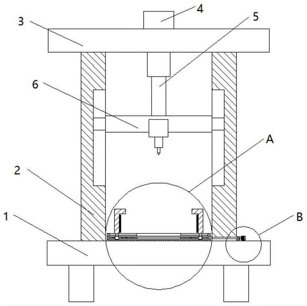 一种带自动夹紧机构的适配器壳体用打孔装置