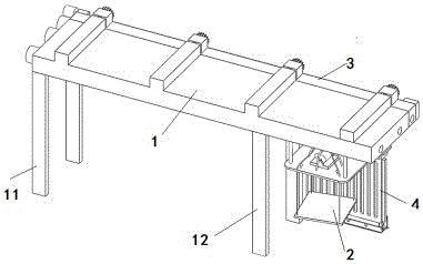 一种水电站闸门防护施工设备及其施工方法