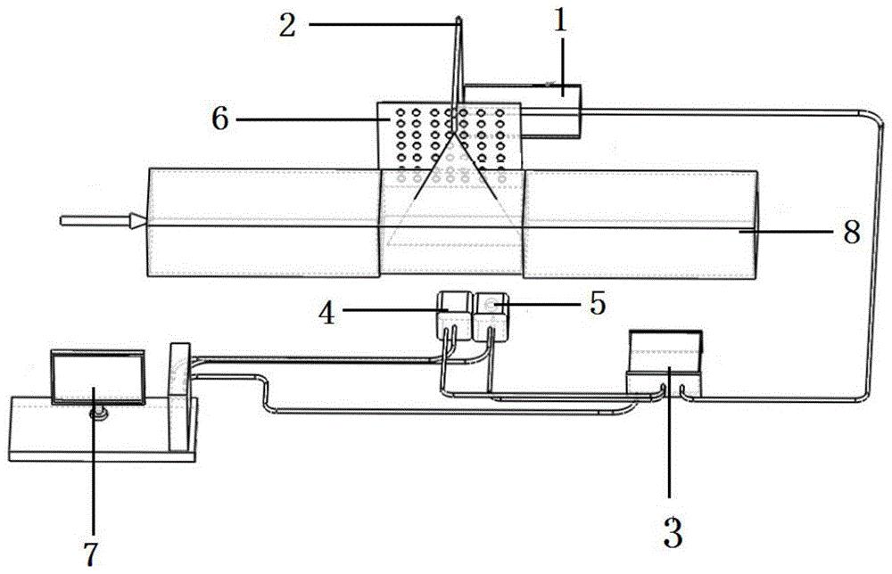 一种浓度场-密度场同步测量系统及方法