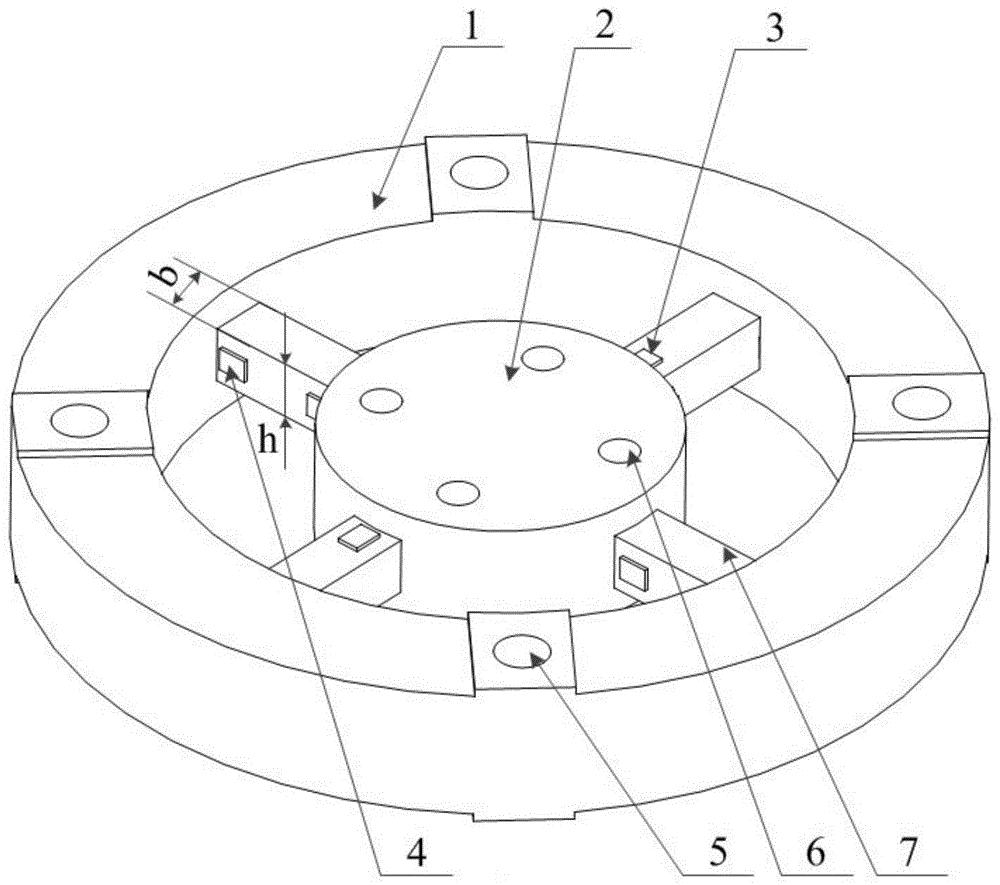 一种筋条式微轴向力环形二分量应变天平