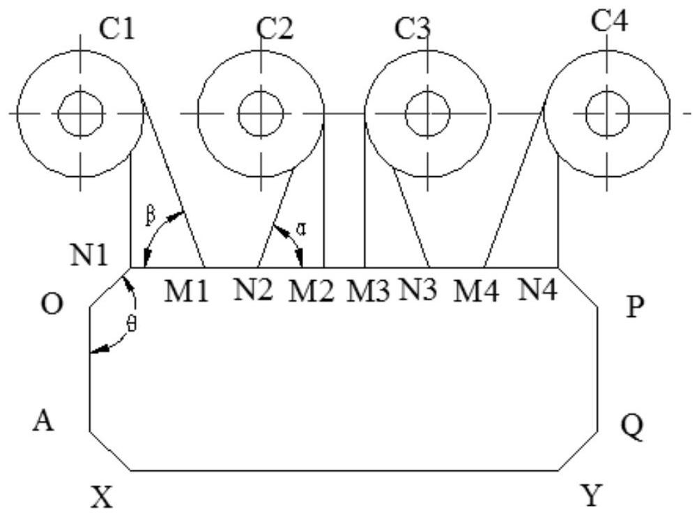 一种四分离器并列布置的循环流化床锅炉及其布置方法