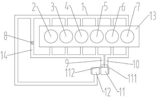 一种非对称流量的废气再循环系统