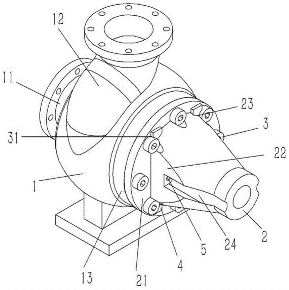 一种离心泵体上防松动的螺栓结构