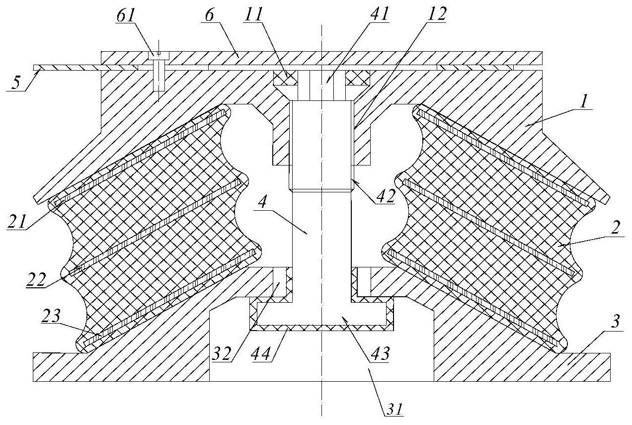一种用于浮置板轨道的橡胶隔振器