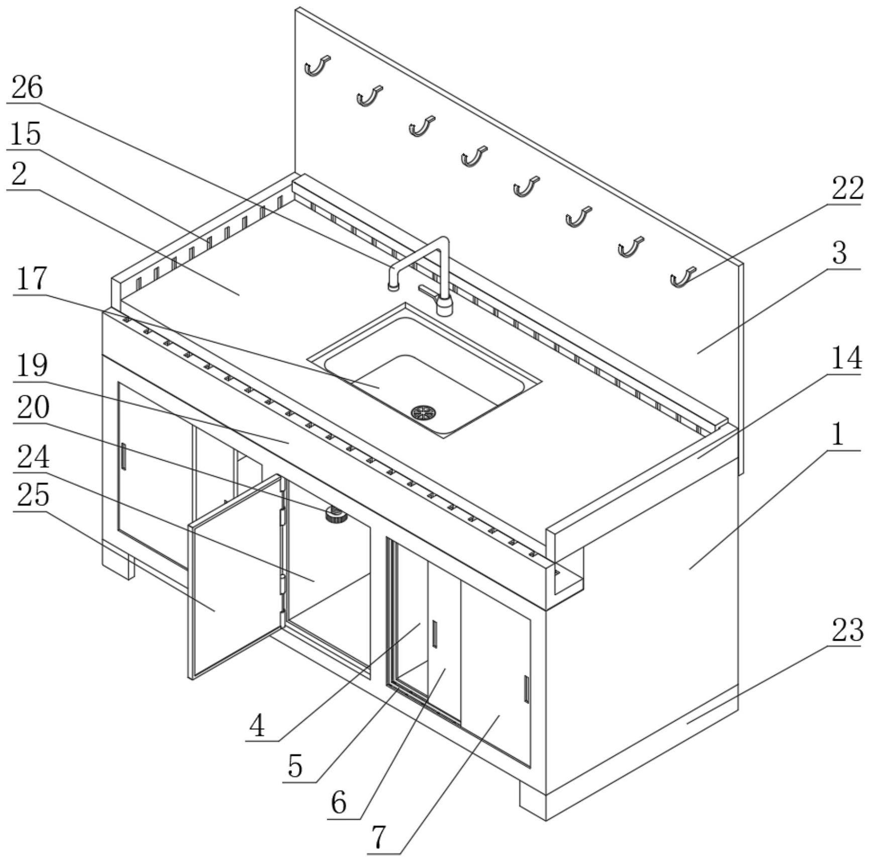 一种装配式多功能防水橱柜