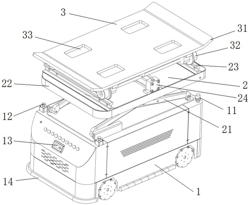 一种用于抽屉式立体停车场中存取车的装置