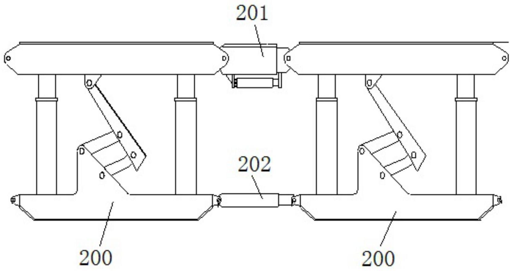超前支护支架与转载机同步安装方法
