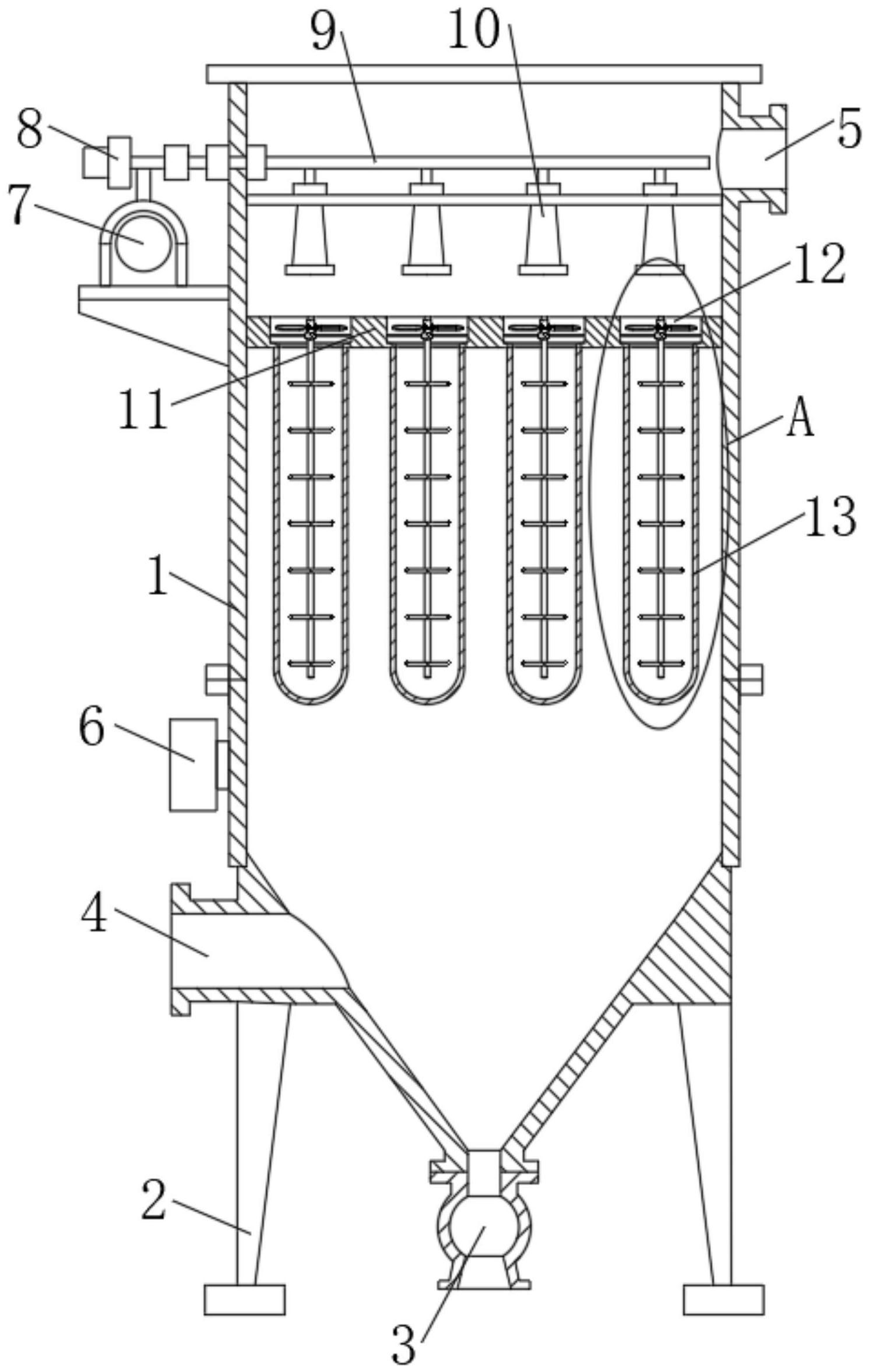 一种减少脉冲喷气的次数的布带除尘器