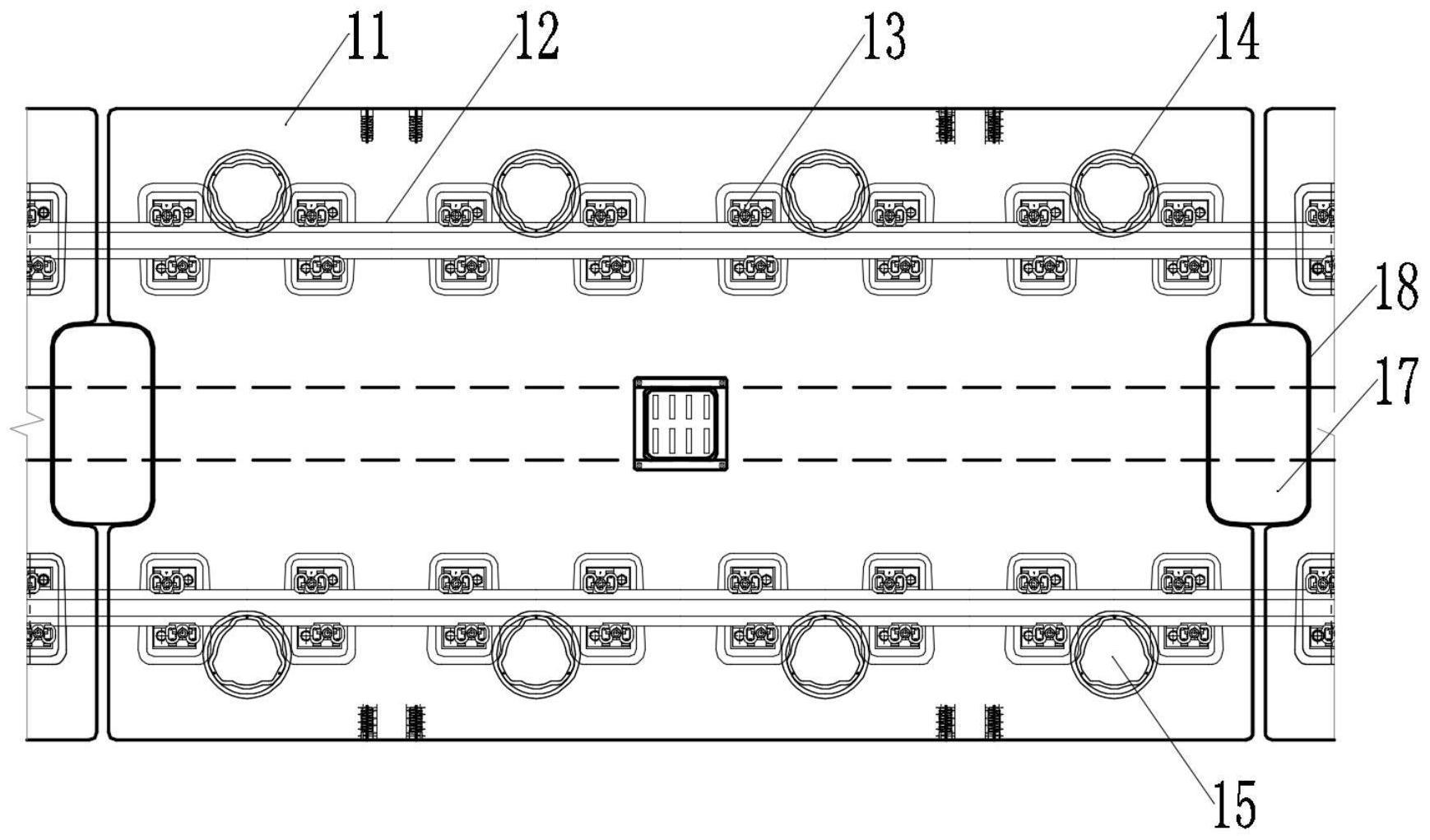 便于更换的橡胶弹簧浮置板结构及其施工工法
