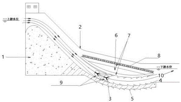 带有隔音消音层的坡上消能消音结构