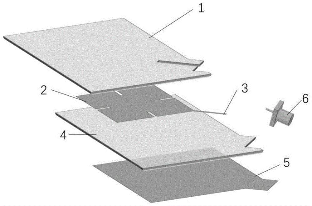 透明双频双极化小型天线及其制备方法