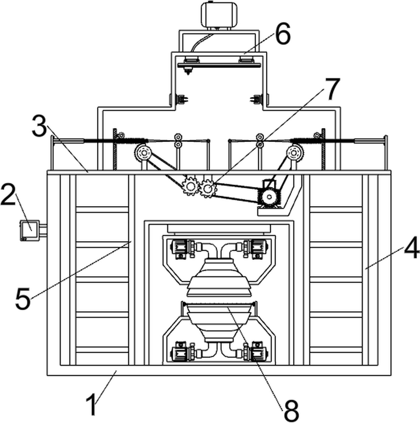一种通气加压式纳米银熔喷布扩散装置