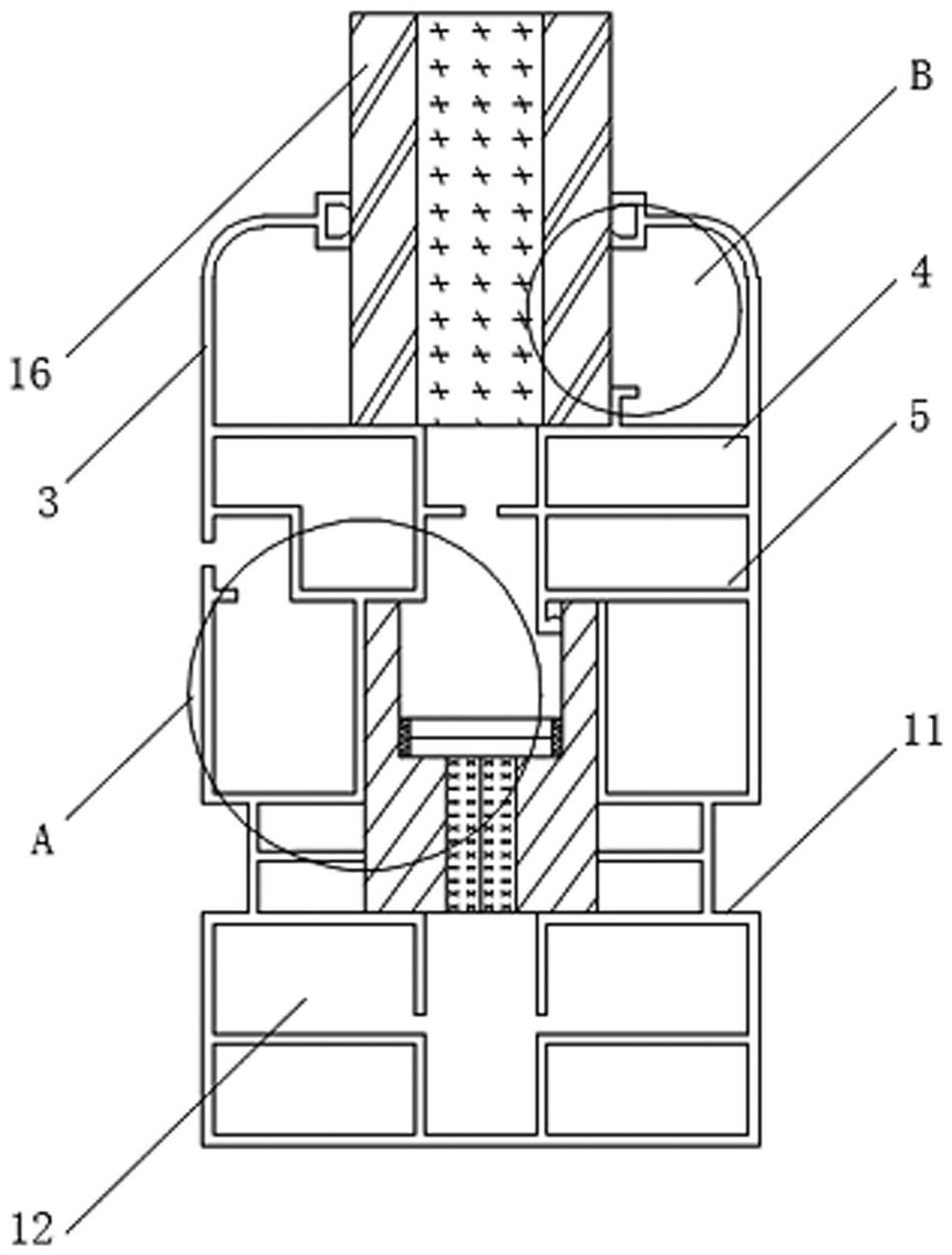 一种用于门框的隔热断桥铝合金型材