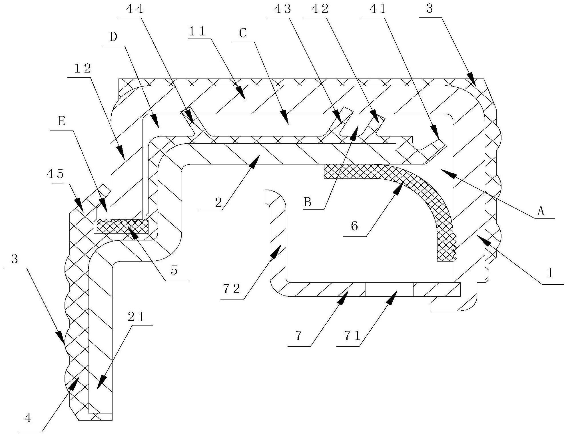 一种组合材料橡胶轮毂密封圈