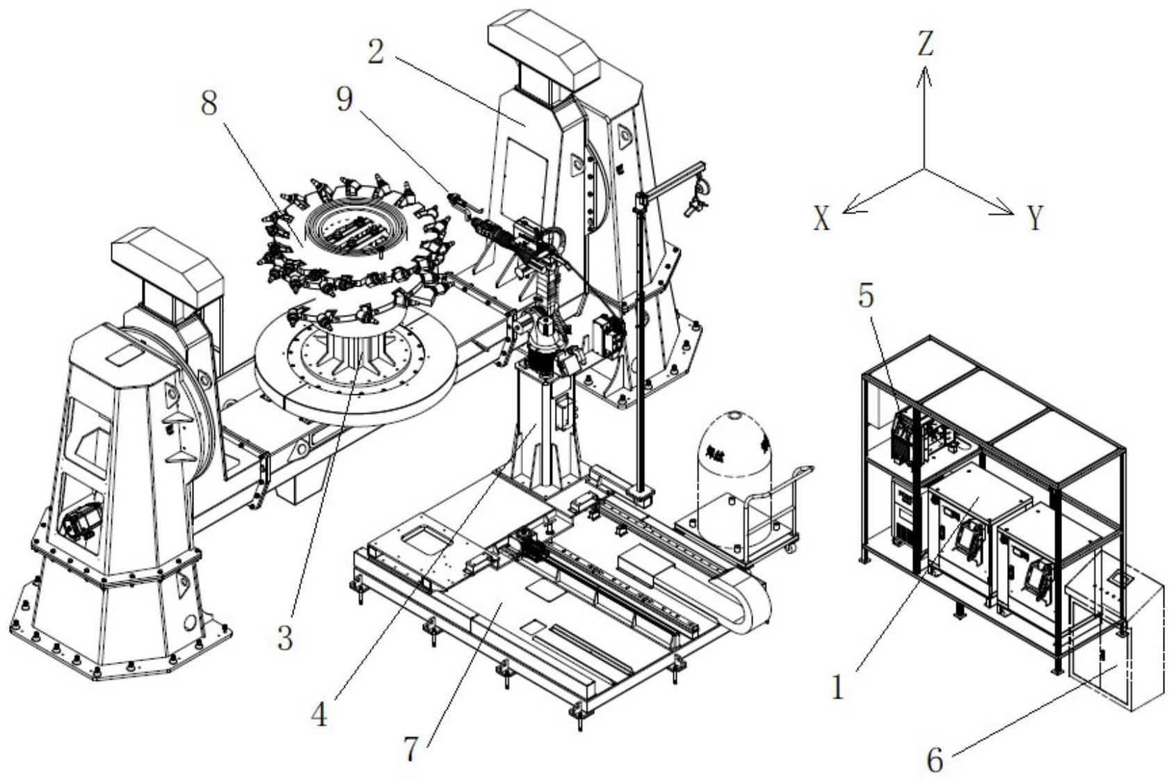 采煤机滚筒焊接系统及焊接控制方法