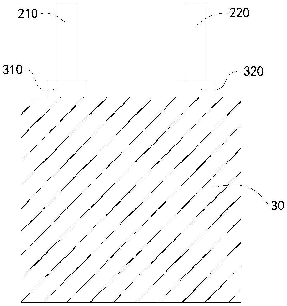 一种软包方形电池电极结构、电池、电子设备及制备工艺