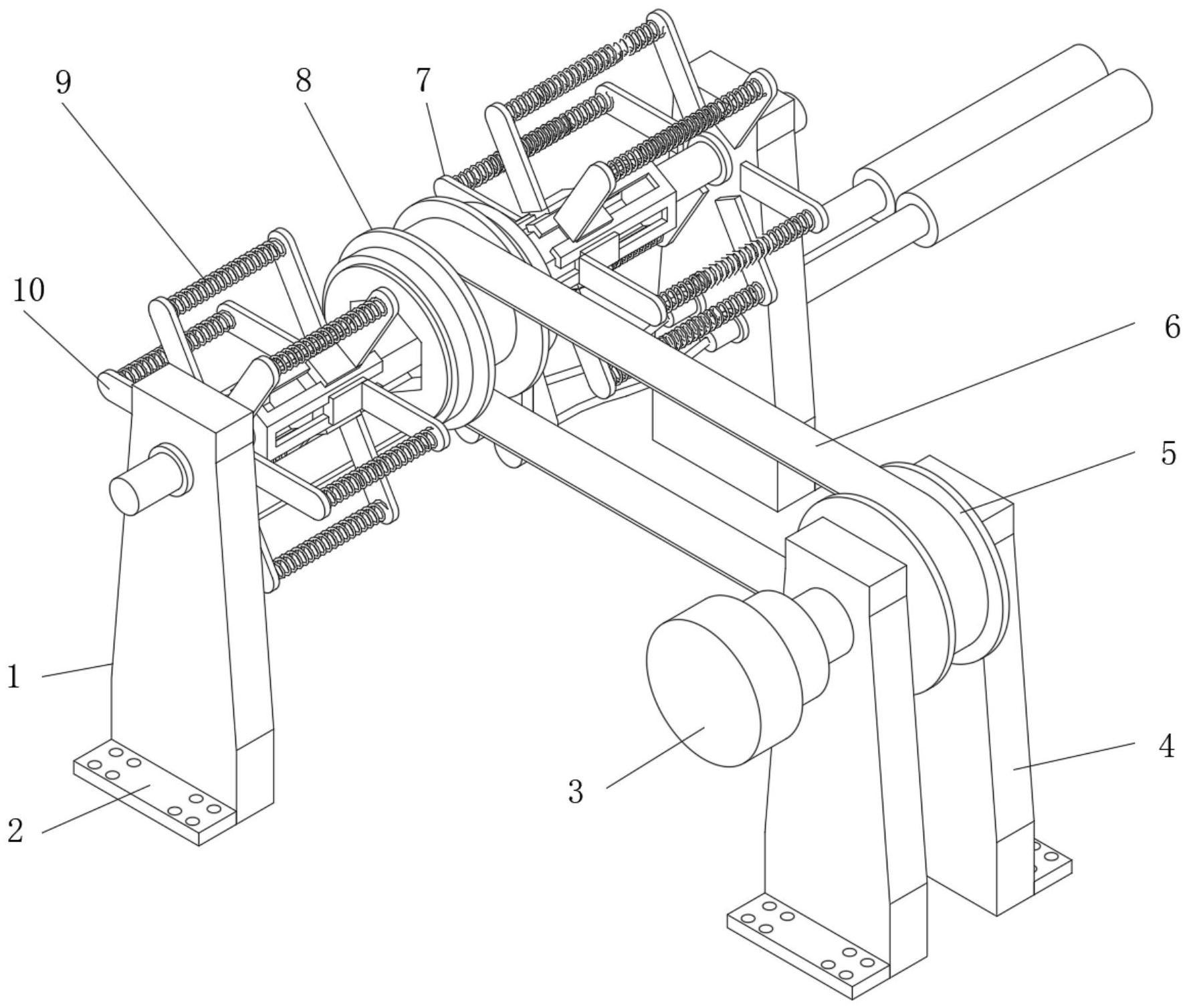 一种皮带轮驱动传动方向调节控制机构