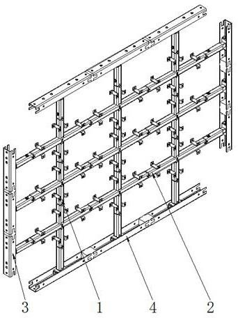 一种组合式装配式隔墙用支撑骨架