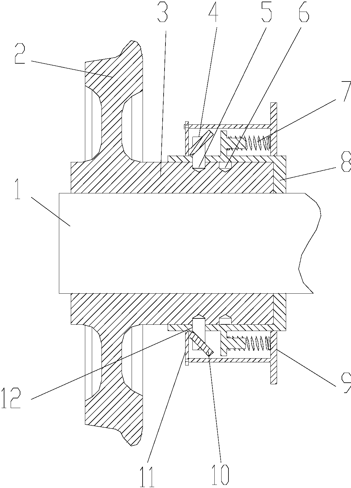 cn107187461b_一种钓竿式可变轨距锁紧机构有效