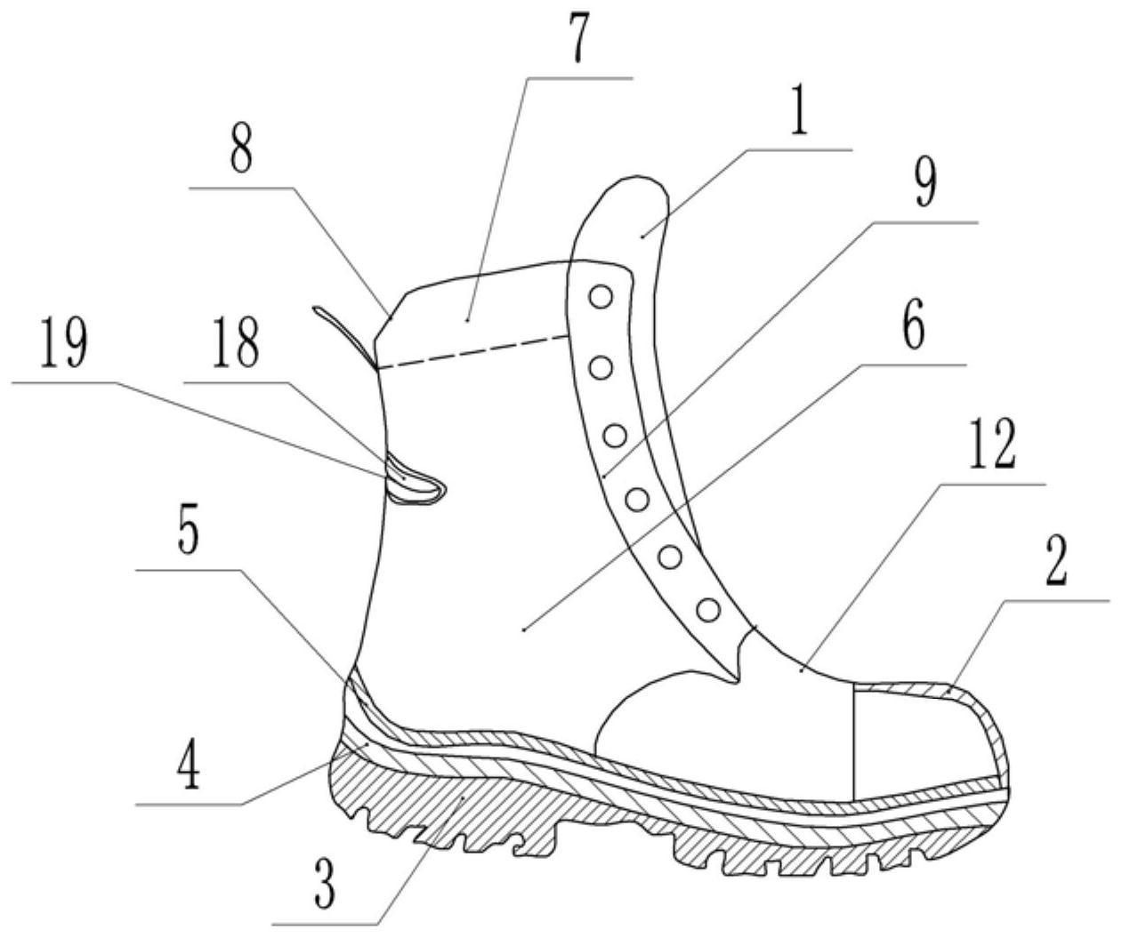 一种具有多功能防护作用的救援鞋