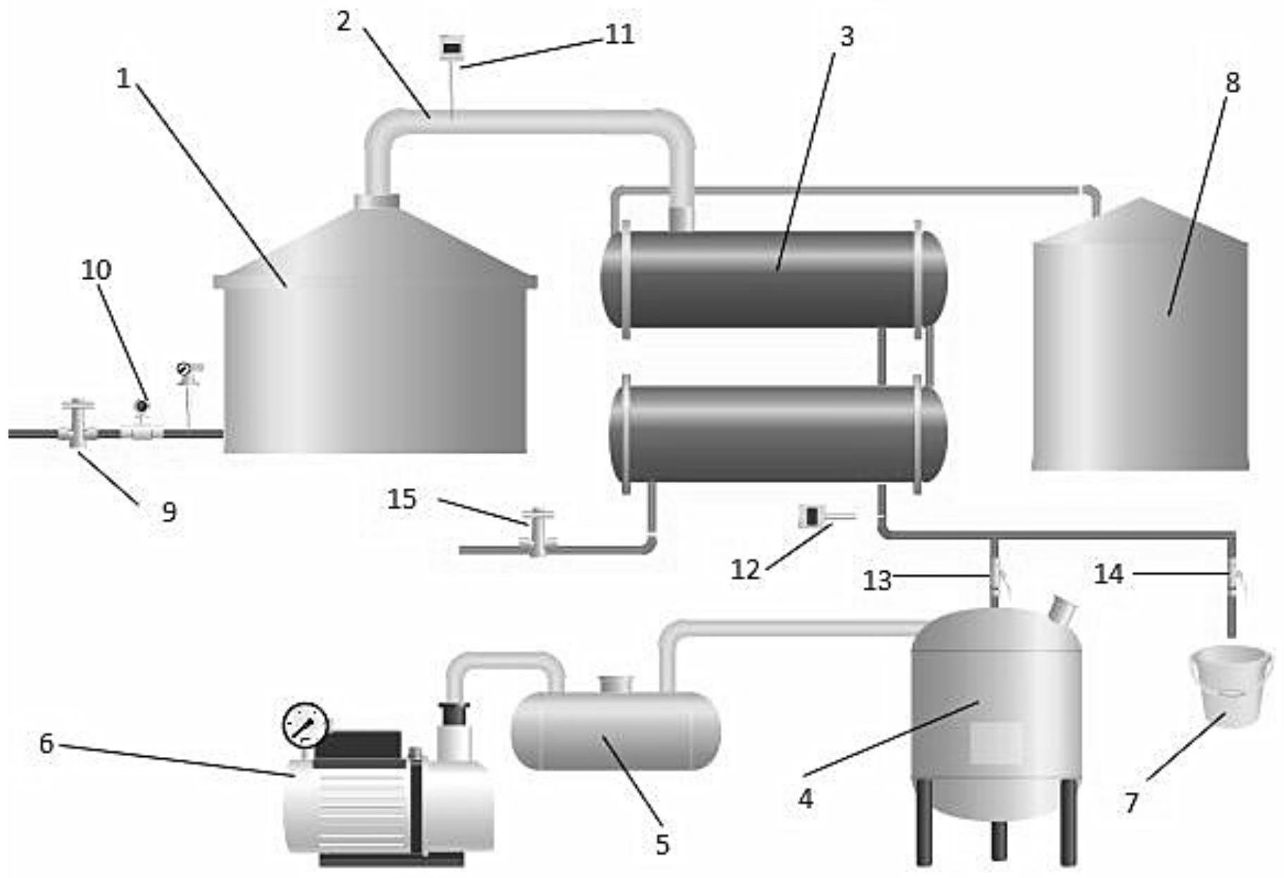 一种固态小曲白酒常减压蒸馏方法