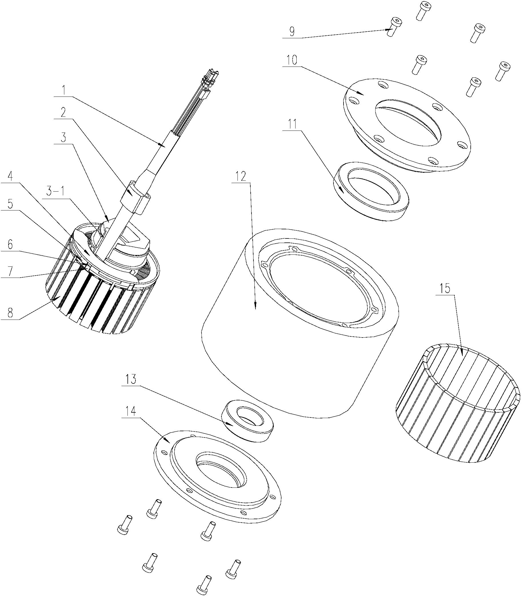 cn206402060u_滑板车的轮毂电机有效