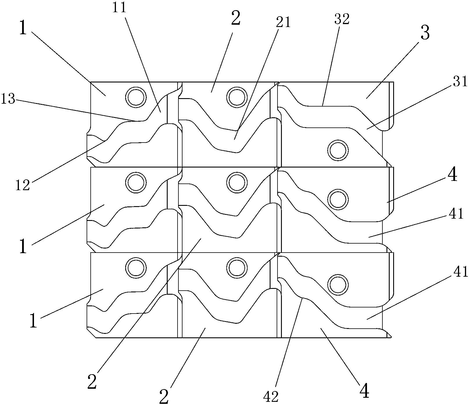 cn207031671u_一种三线卫衣针织大圆机的三角组件有效