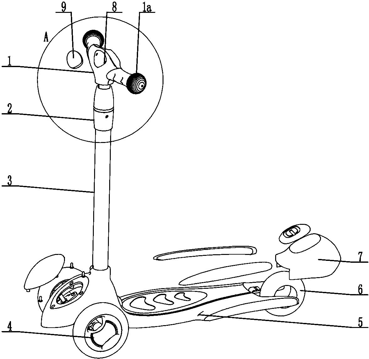cn207089565u_一种带车把手挡板结构的滑板车有效