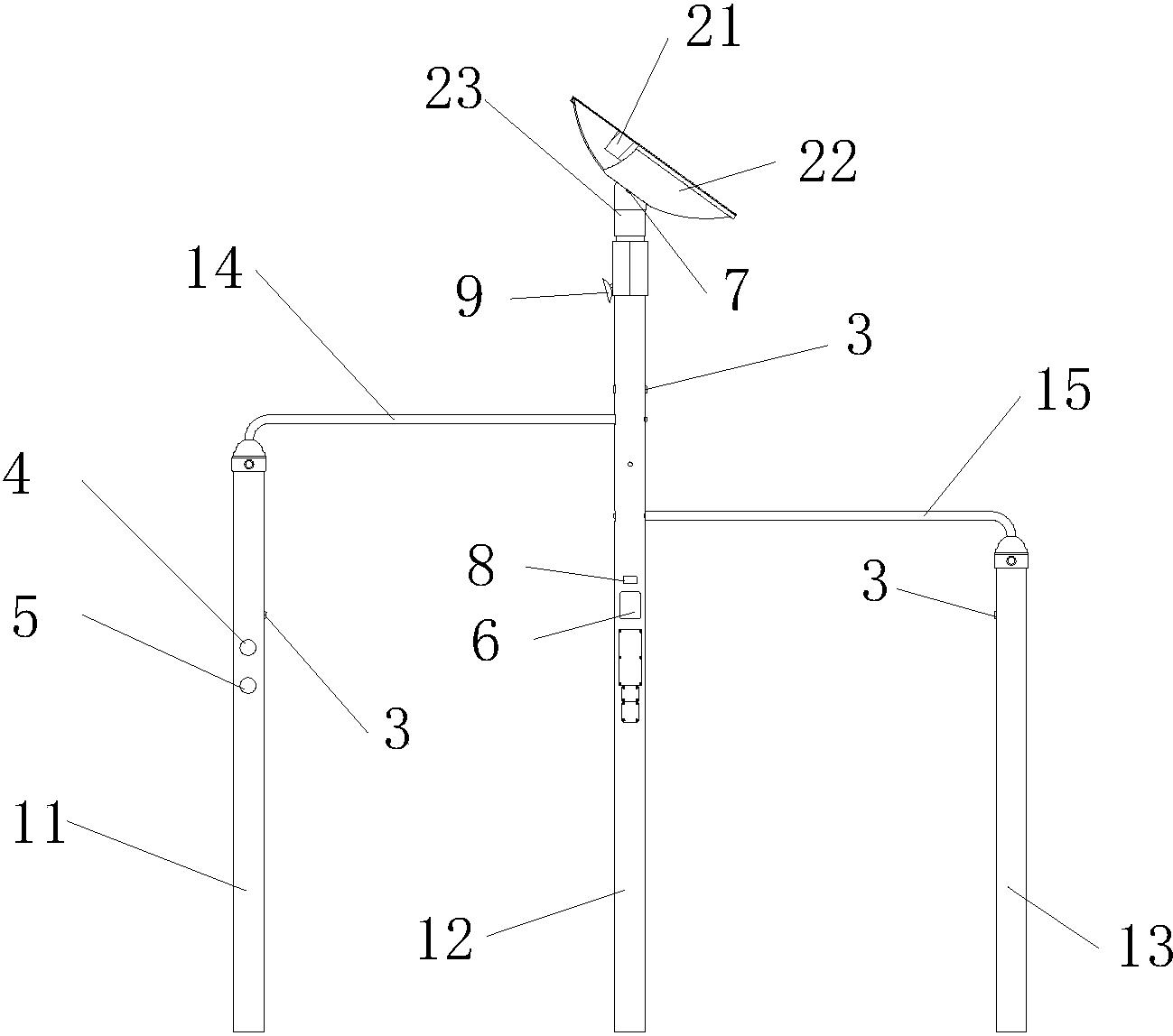 单杠平面图画法