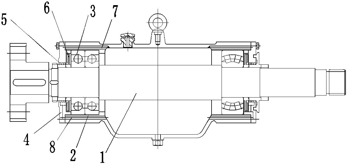 一種渣漿泵軸承體軸封密封結構