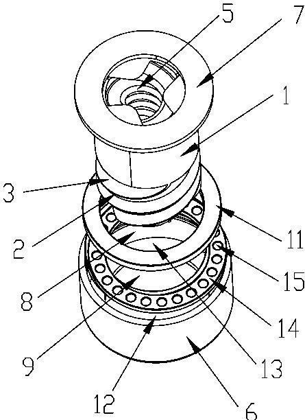 螺旋水压钻头