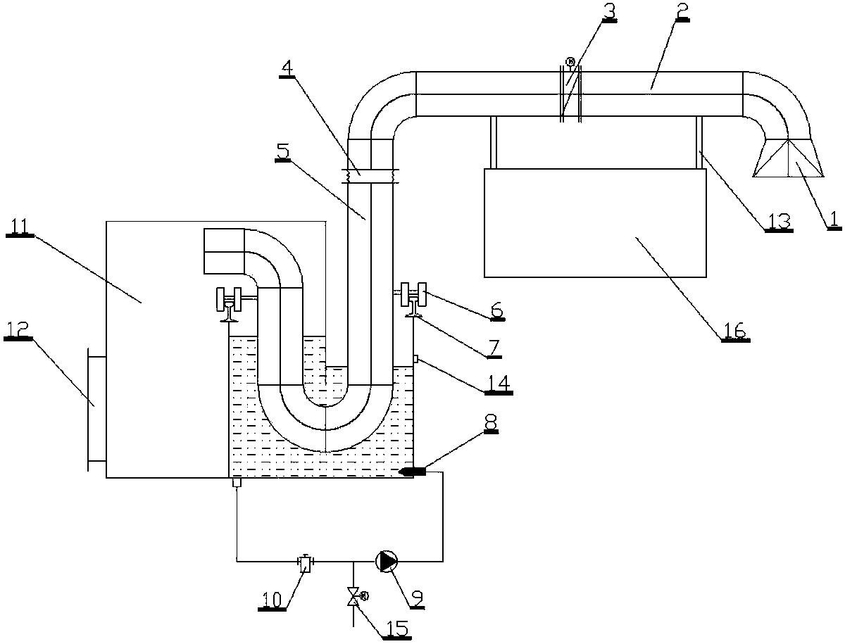 煤气水封槽内部结构图