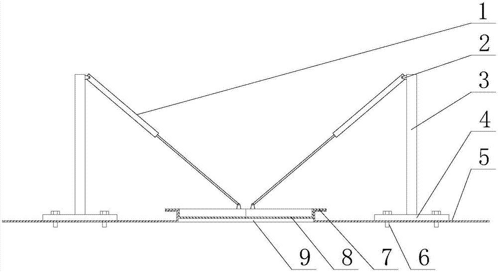 一种风电机组吊装孔电动开合盖板总成图片