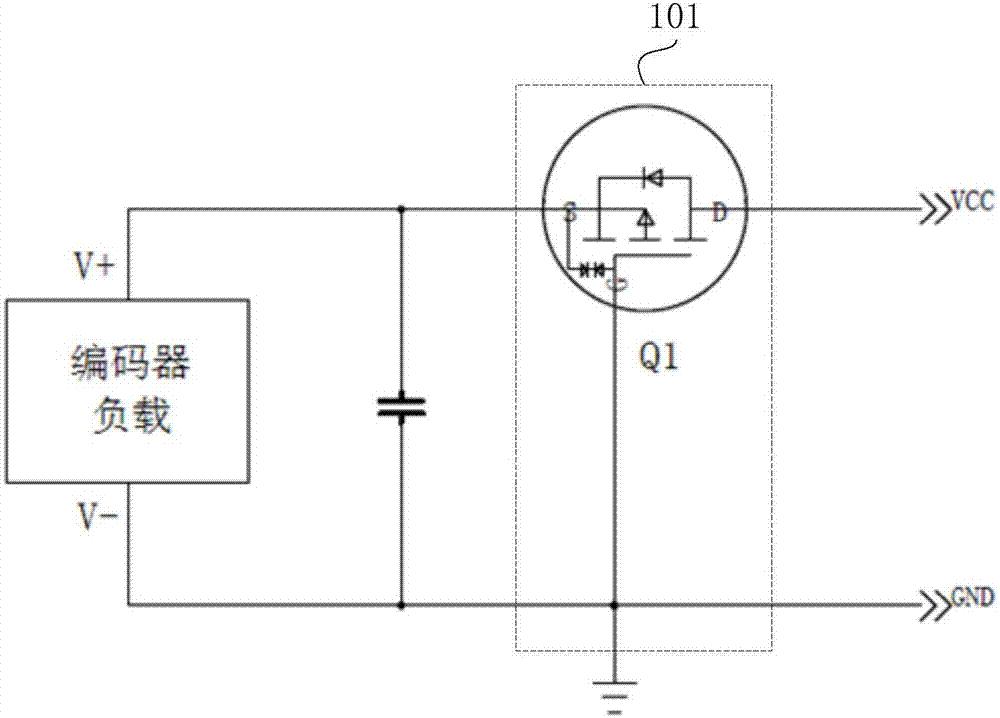 cn208190255u_一种用于编码器的保护电路以及编码器有效
