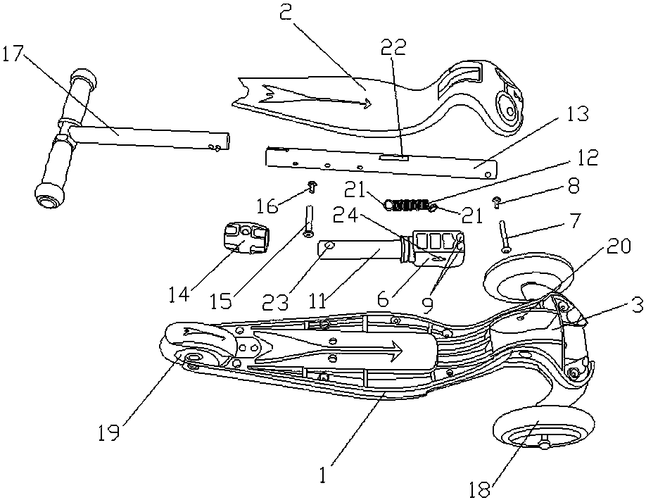 cn208216906u_一种滑板车的折叠装置有效
