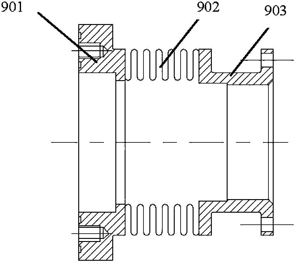 一种喷管测力装置的后空气桥
