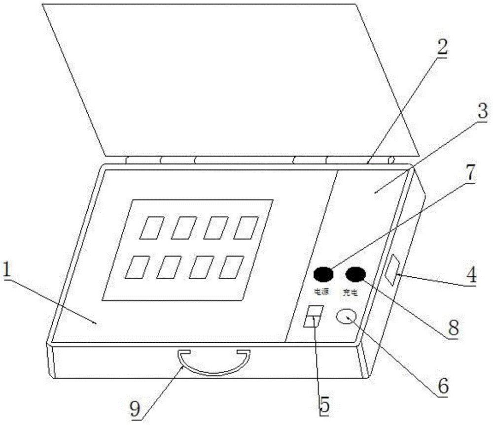 一种采集锈蚀钢筋电磁传感器信号的便携装置