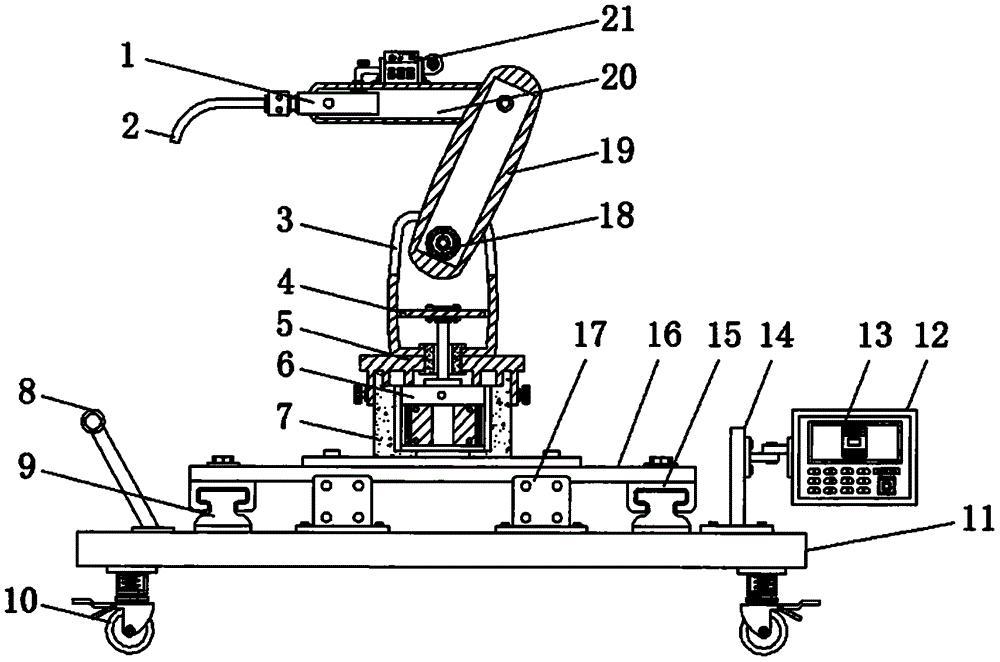 一种机器人机械手臂关节处清理装置