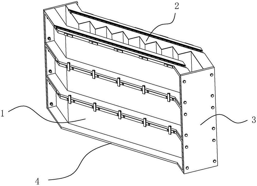 一种拼接式预制楼梯模具