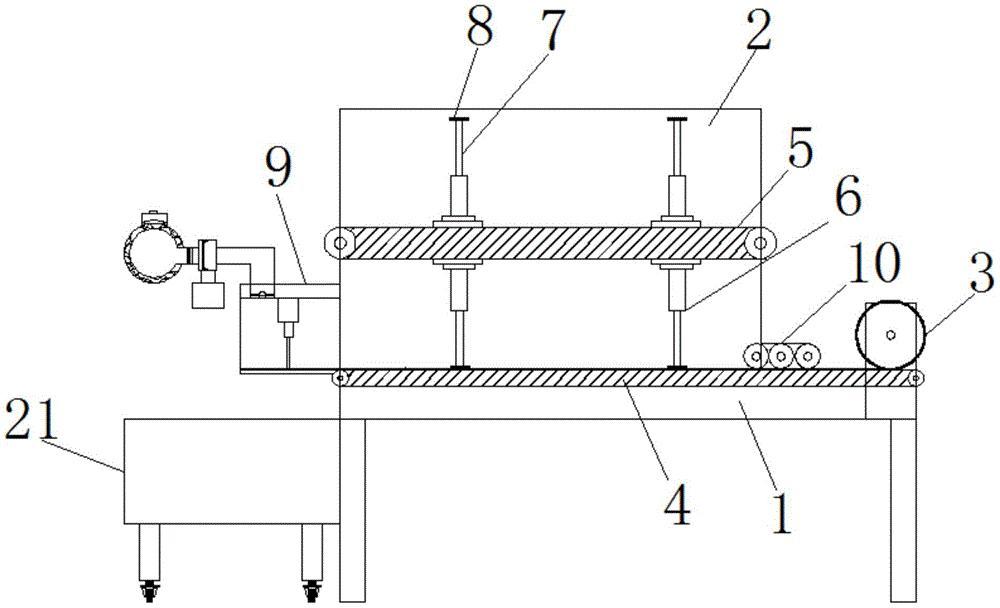 一种玻璃纤维网片自动放卷裁切装置