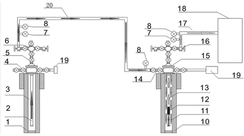 一种丛式井高中压多井混合串联集气系统