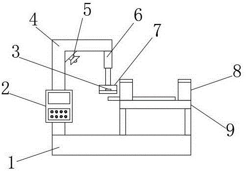 一种电梯导轨生产用抗弯性检测装置