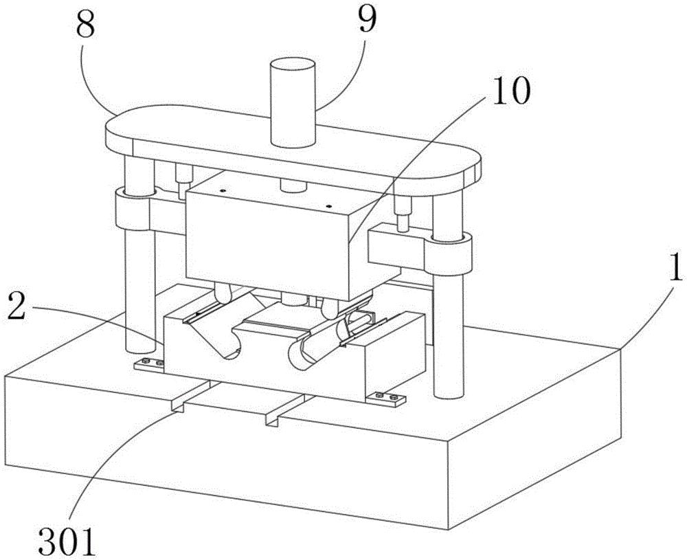 一种便捷式弯曲生产的五金制作模具